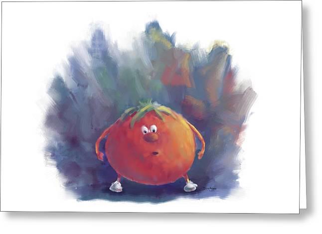 Tomato Dismay Greeting Card