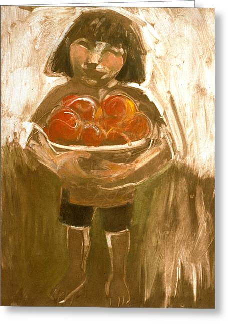 Tomato Girl Greeting Card
