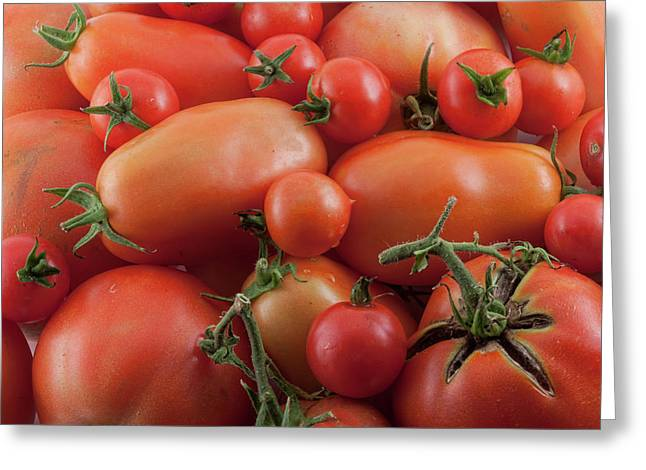 Greeting Card featuring the photograph Tomato Mix by James BO Insogna