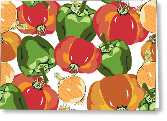 Tomato Sauce Ingredients Greeting Card