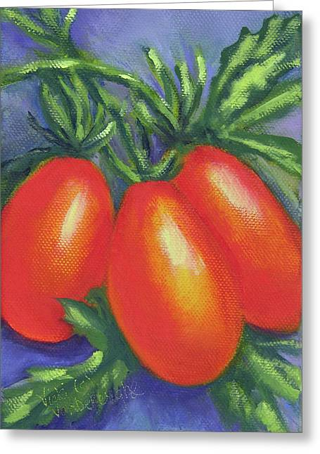 Tomato Roma Greeting Card