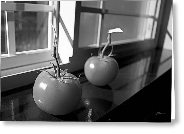 Window Sill Greeting Cards - Tomato Stew Greeting Card by Ed Boudreau