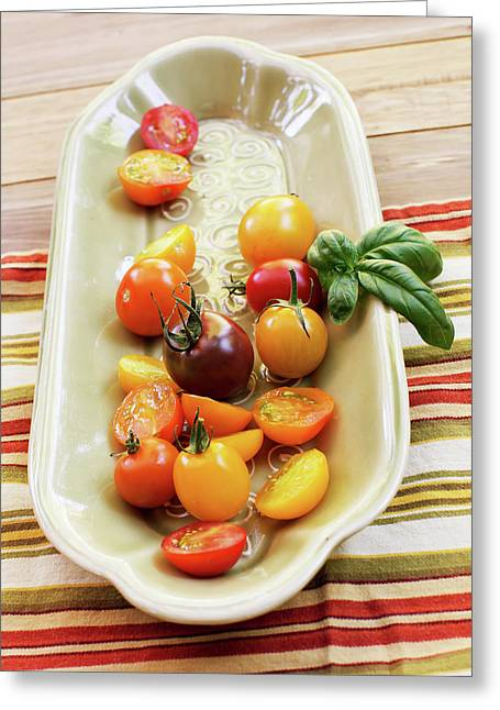 Tomato Still Life 4 Greeting Card by Rebecca Cozart