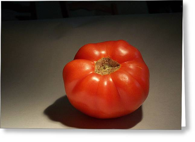 Tomato Still Life Greeting Card by Bryan Knox