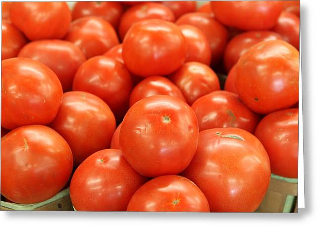 Tomatoes 247 Greeting Card by Michael Fryd