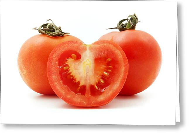 Cut-outs Greeting Cards - Tomatoes Greeting Card by Fabrizio Troiani