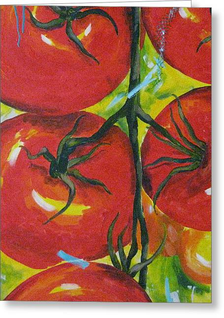 Tomatoes Greeting Card by Terri Rodstrom