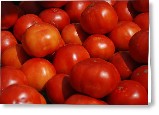 Tomatoes Greeting Card by William Thomas