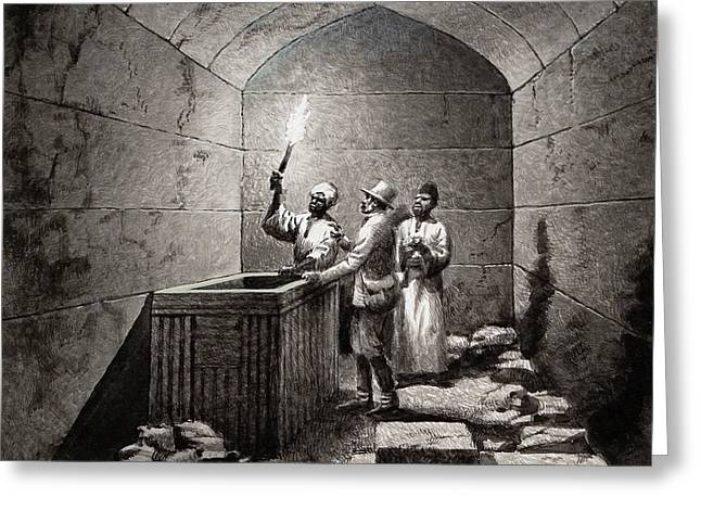 Tomb Chamber Of Menkaura Greeting Card by Pat Nicolle
