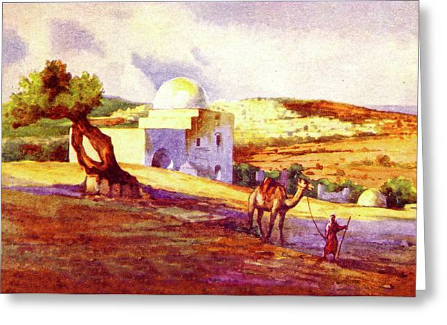 Tomb Of Rachel 1911 Greeting Card