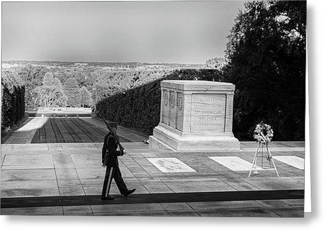 Tomb Of The Unknown Greeting Card by Paul Seymour