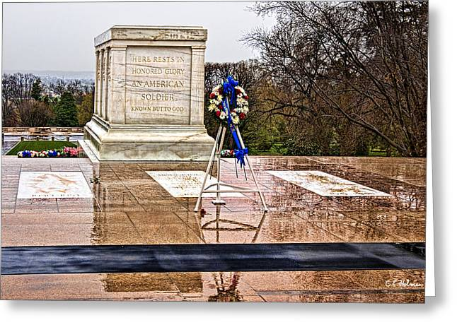 Tomb Of The Unknown Soldiers Greeting Card by Christopher Holmes