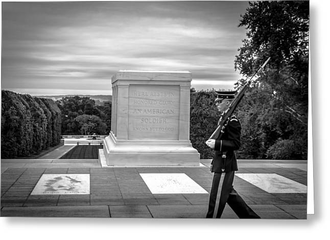 Tomb Of The Unknown Solider Greeting Card by David Morefield