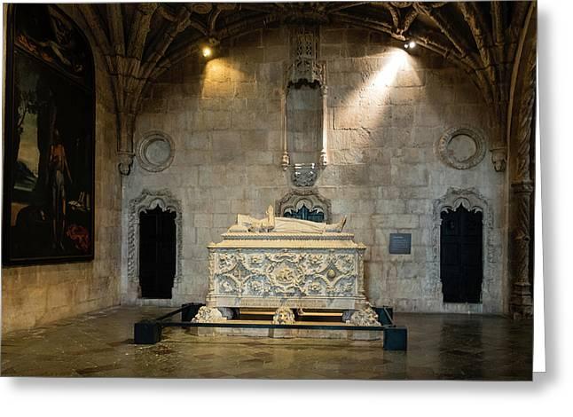 Tomb Of Vasco De Gama Greeting Card