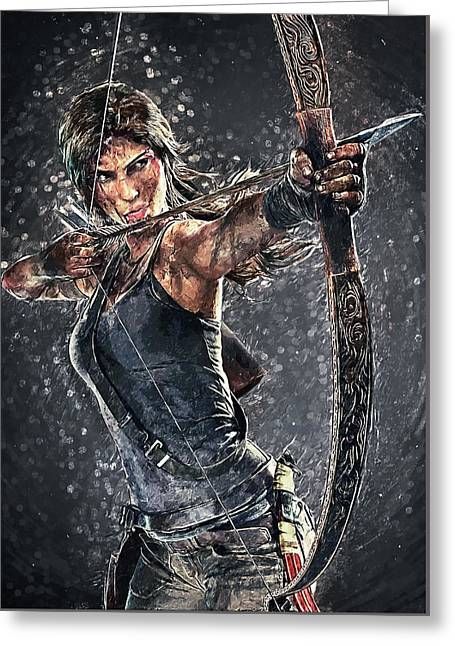 Tomb Raider Greeting Card