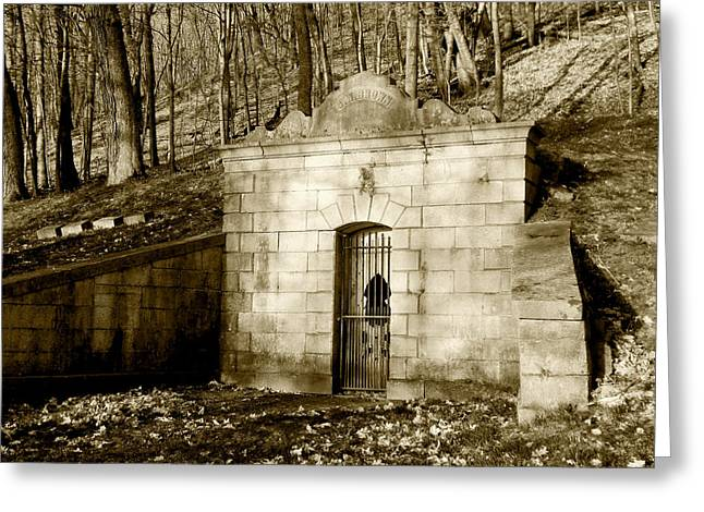 Tomb With A View In Sepia Greeting Card by Wild Thing