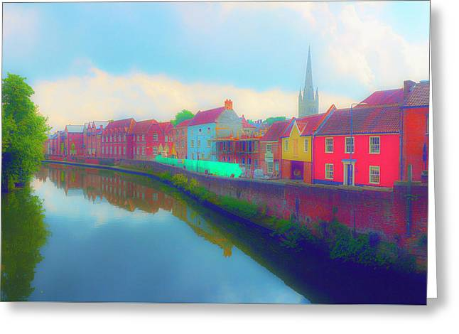 Tombland Canal Greeting Card