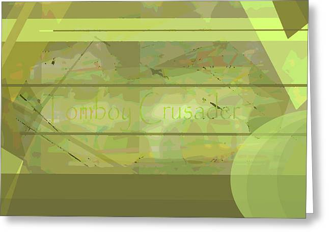Tomboy Crusader 2 Greeting Card