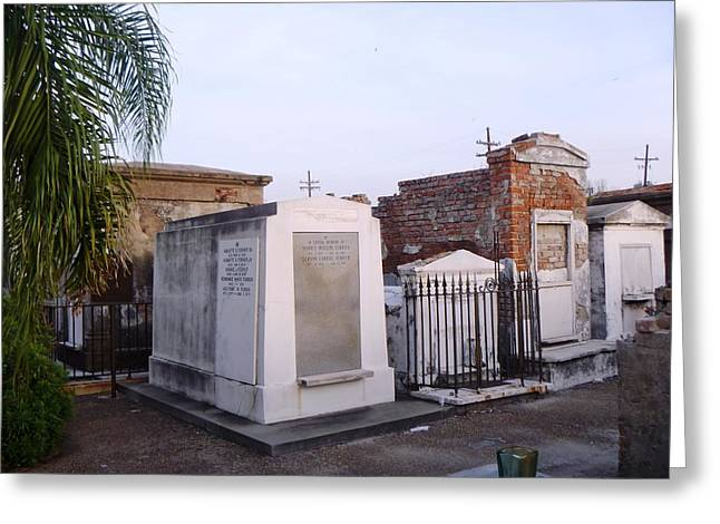 Greeting Card featuring the photograph Tombs In St. Louis Cemetery by Alys Caviness-Gober