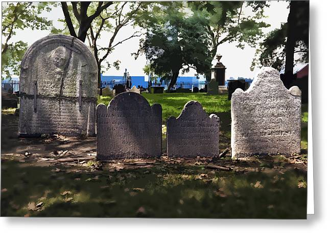 Tombstones Greeting Card by Kelley King