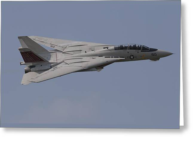 Tomcat Fly-by Greeting Card