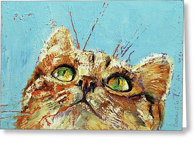 Tomcat Greeting Card by Michael Creese