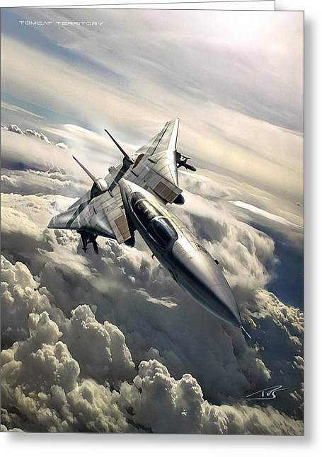 Tomcat Territory Greeting Card by Peter Van Stigt