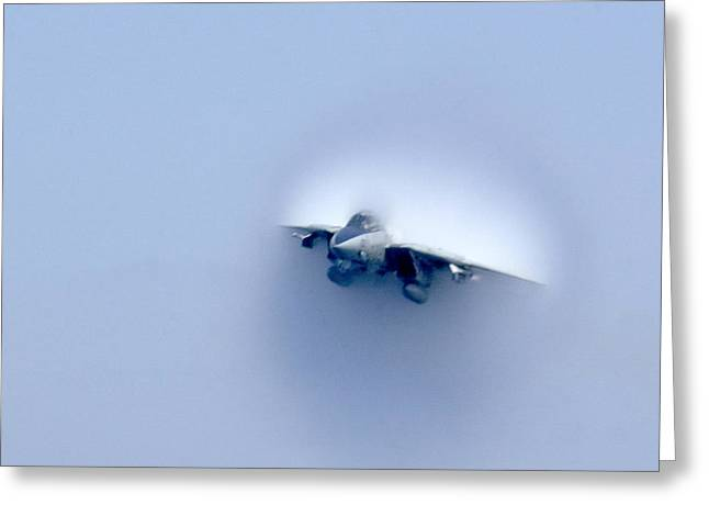 Tomcat Through The Sound Barrier Greeting Card