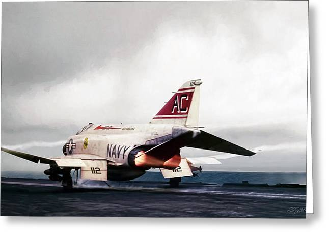 Tomcatter Launch Greeting Card by Peter Chilelli