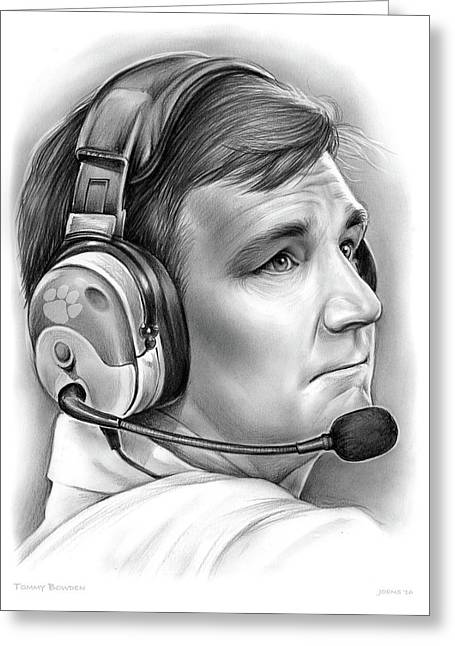 Tommy Bowden Greeting Card by Greg Joens