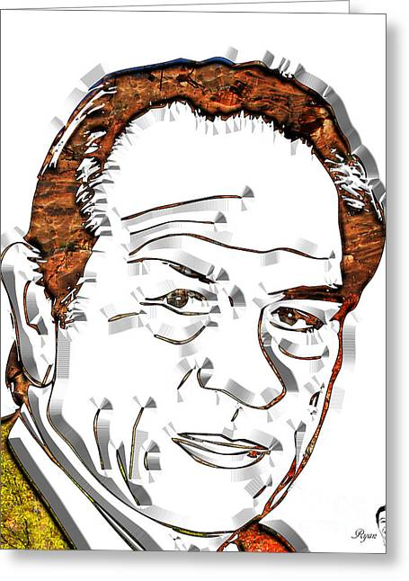 Tommy Lee Jones Greeting Card by Dalon Ryan
