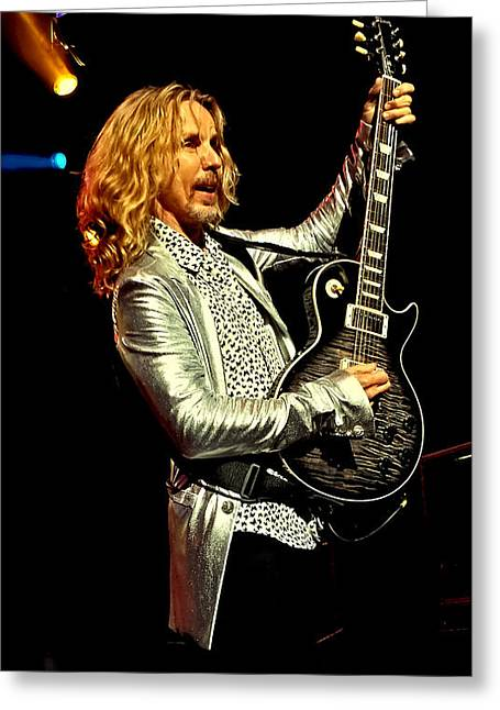 Tommy Shaw Of Styx Greeting Card by David Patterson