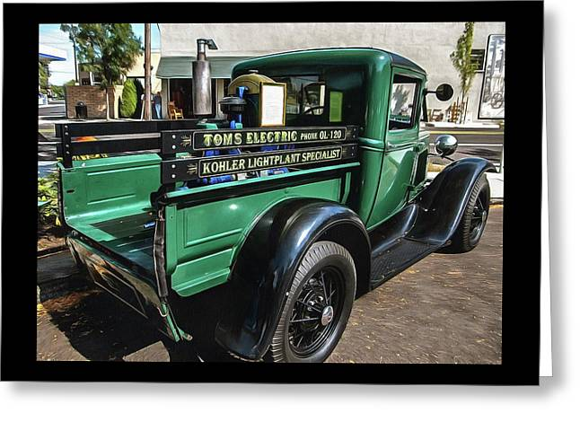 Toms Electric Antiquetruck Greeting Card by Thom Zehrfeld