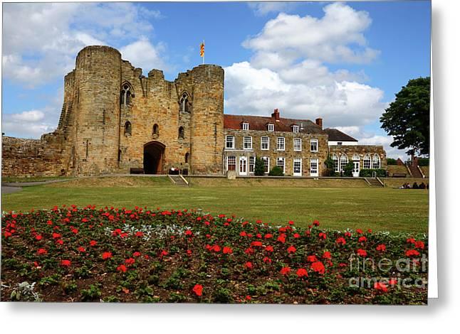 Tonbridge Castle Gardens Kent England Greeting Card by James Brunker