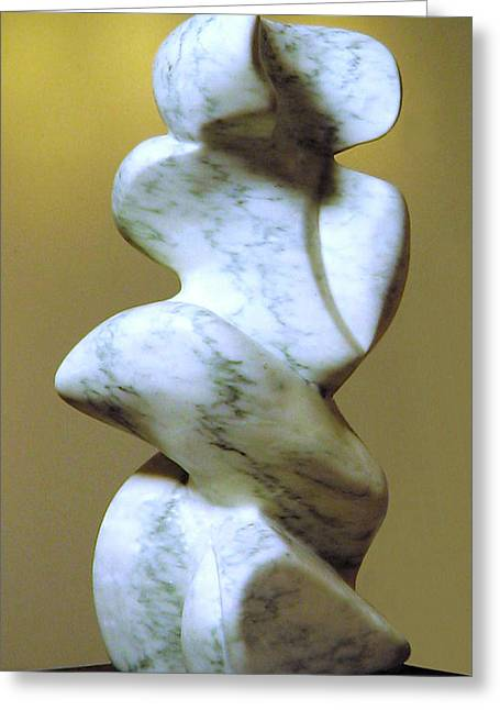 Abstract Forms Sculptures Greeting Cards - Tone Stone Greeting Card by Lonnie Tapia