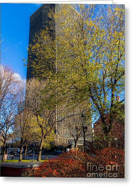 Toner Tower Greeting Card by William Norton
