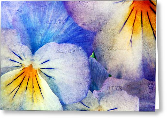 Gentle Petals Greeting Cards - Tones of Blue Greeting Card by Darren Fisher