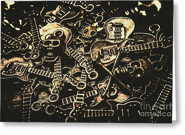 Tones Of Hard Rock Greeting Card