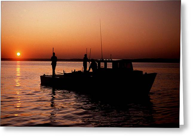 Tonger's Sunrise Greeting Card by Skip Willits