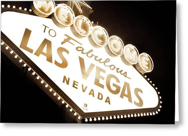 Tonight In Vegas Greeting Card