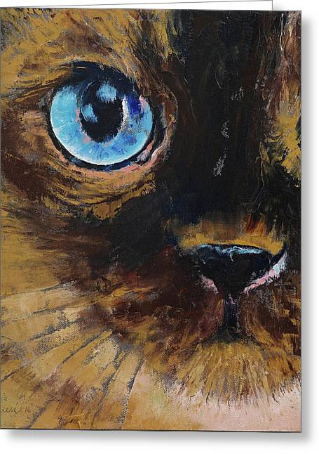 Tonkinese Greeting Card by Michael Creese