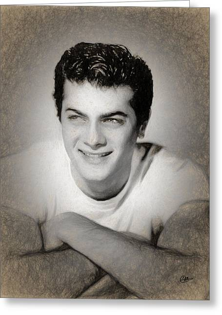 Tony Curtis Greeting Card by Joaquin Abella