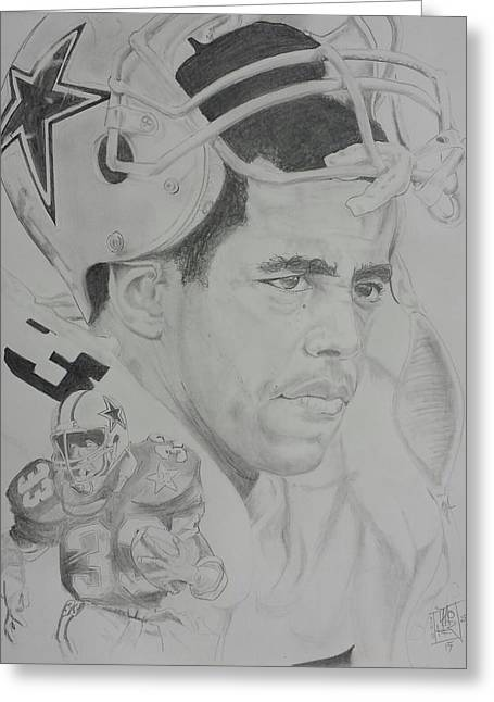 Tony Dorsett  Greeting Card by DMo Herr