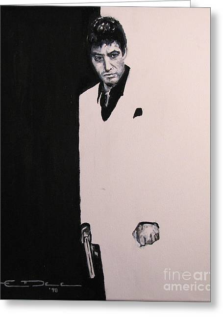 Tony Montana - Scarface Greeting Card by Eric Dee
