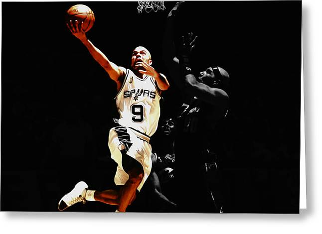 Tony Parker Left Hand Greeting Card by Brian Reaves