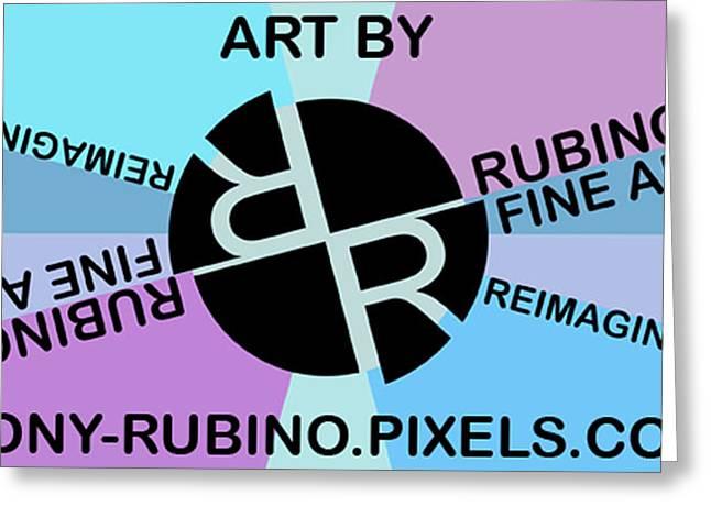 Tony Rubino Fine Art Logo With Website Greeting Card by Tony Rubino