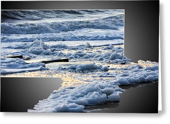 Too Big For The Frame Greeting Card by Allan Levin