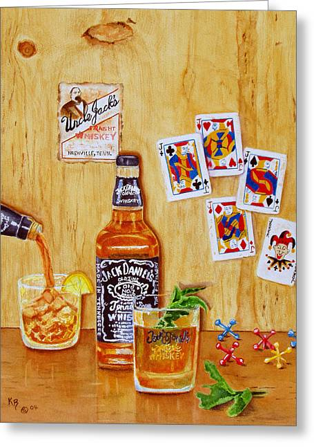 Too Many Jacks Greeting Card by Karen Fleschler