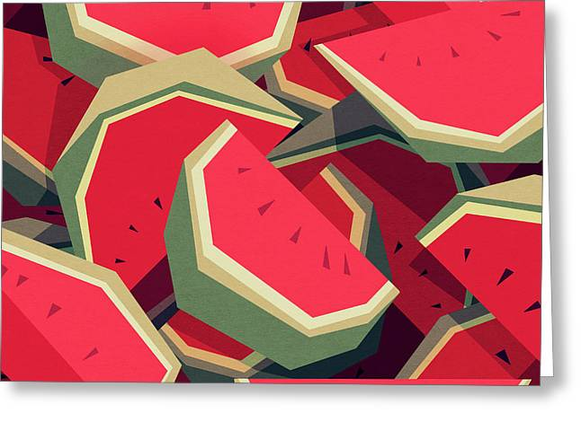 Too Many Watermelons Greeting Card