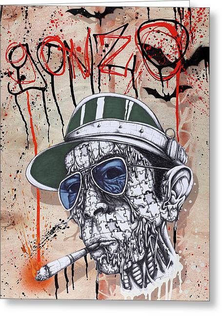 Smoking Greeting Cards - Too Weird to Live Too Rare to Die Greeting Card by Iosua Tai Taeoalii
